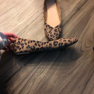 ON Leopard Animal Print Pointy Flats